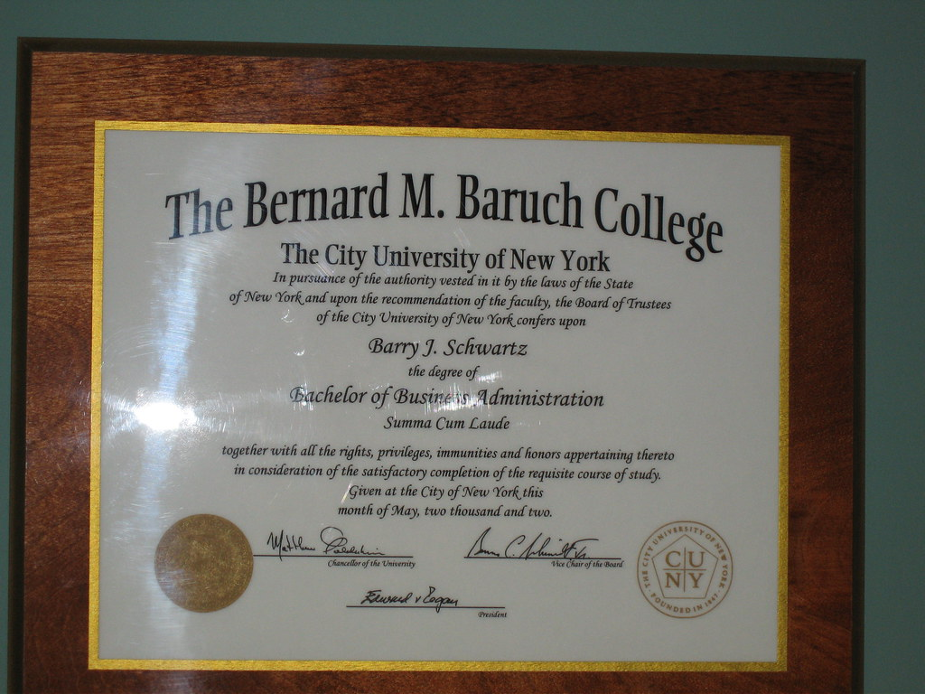 When Does Baruch College Send Acceptance Letters For Graduate School