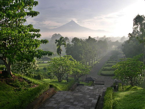 Merapi from Borobudur temple | by Marc-André Jung