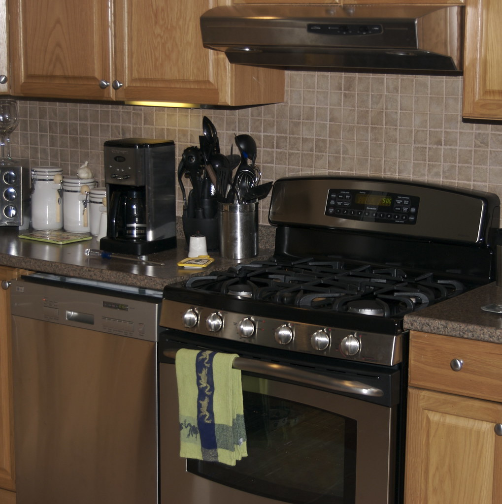 Kitchen With Dishwasher Away From Sink