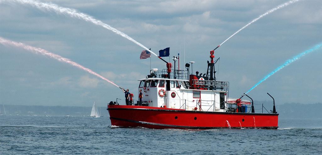 Portland Fire Department  Fire Launch Displays Festive