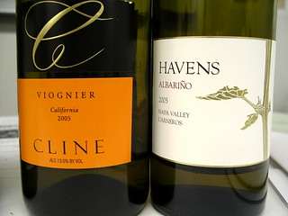 Cline Viognier and Havens Albarino | by Blue Lotus