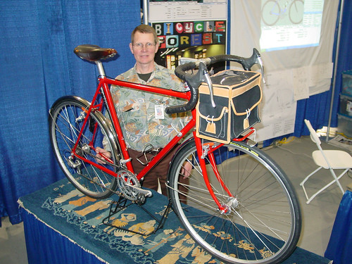 My Booth Neighbor Charles Lathe from Coho Bicycles | by brentjohncurry