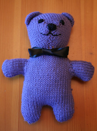 Simple Knitting Pattern For Teddy Bear : Knitted Teddy Bear Pattern: Cashmere Teddy Bear from ...