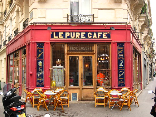 le pure cafe it locates at a very quiet corner on rue jean flickr. Black Bedroom Furniture Sets. Home Design Ideas