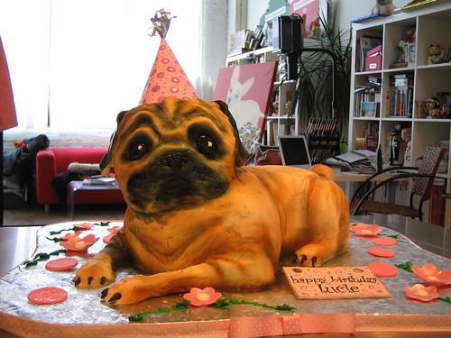 Pug Birthday Cake Hat