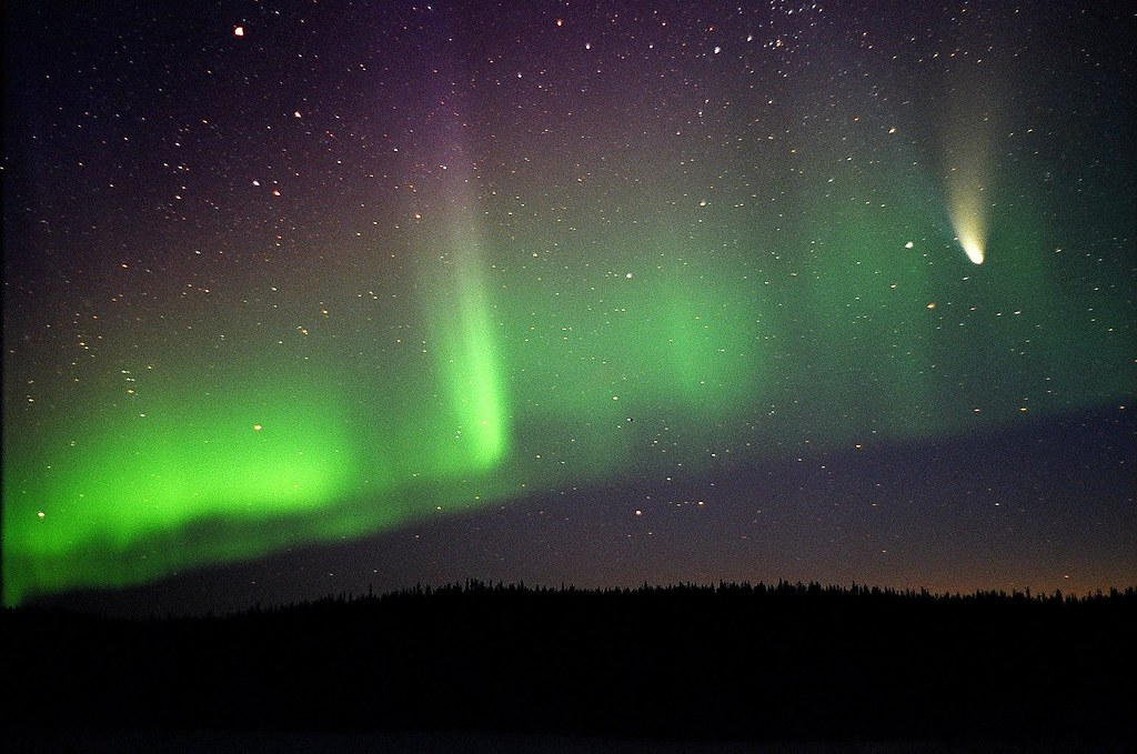 northern lights comet - photo #1