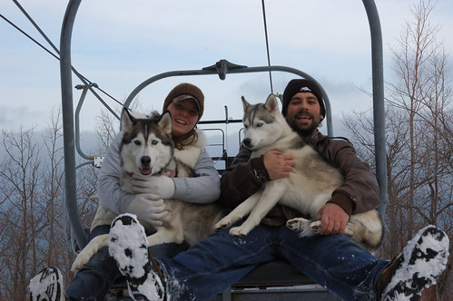 Liz, Jay, Timber and Aspen - going up! | by Rob Burke