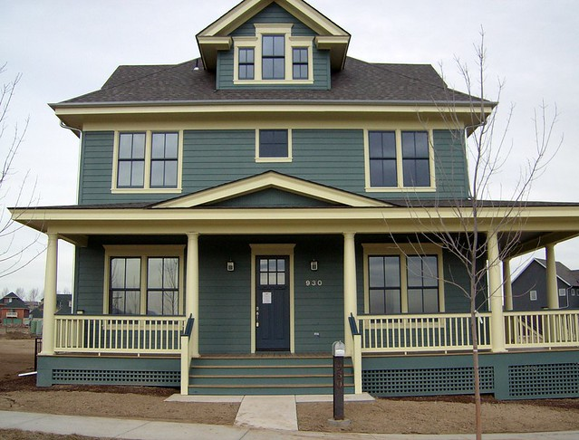 American foursquare on steroids front elevation prospect for American exterior design