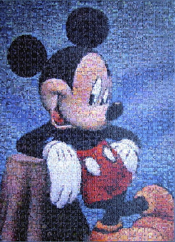 Mickey Mosaic Puzzle A 1000 Piece Mickey Mouse Puzzle
