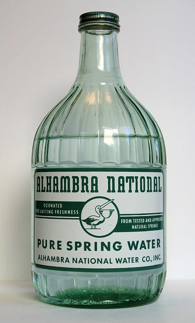 Vintage Alhambra Water Glass Bottle Alhambra Water Glass