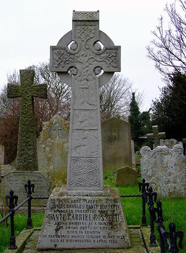 the grave of dante gabriel rossetti  parish church of all  u2026