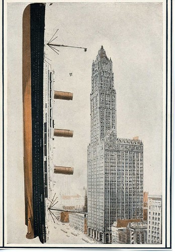 Woolworth Building compared to an ocean liner | by WorldIslandInfo.com