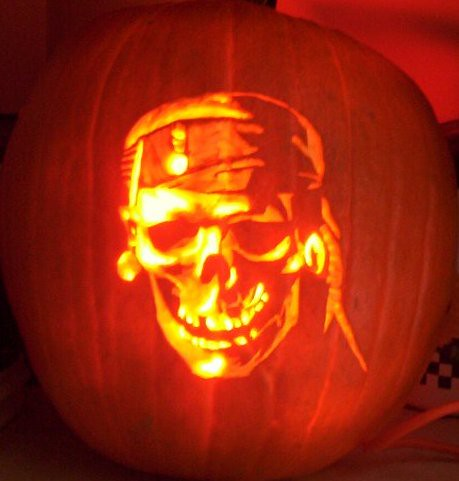 Pirates of the Caribbean Skull Pumpkin | by bonsid