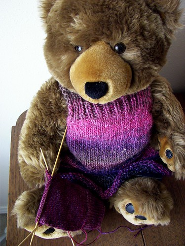 Another jumper on another bear | by Twisted Knitter