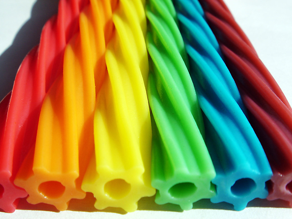 Rainbow Twizzlers | I went to a candy shop yesterday, and ...