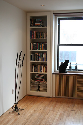 Built In Bookshelves And Radiator Cover Designed By Petermaslow