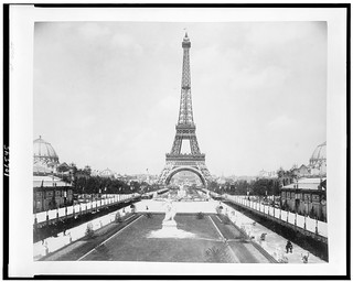 No Known Restrictions: Eiffel Tower, looking toward Trocadéro Palace, Paris Exposition, 1889 (LOC) | by pingnews.com