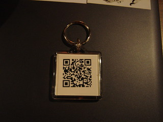My QuickMark key circle with Semapedia QR-code / 屬於我的印有 Semapedia QR-code 的 QuickMark 鑰匙圈 | by Ted / 眼鏡虎