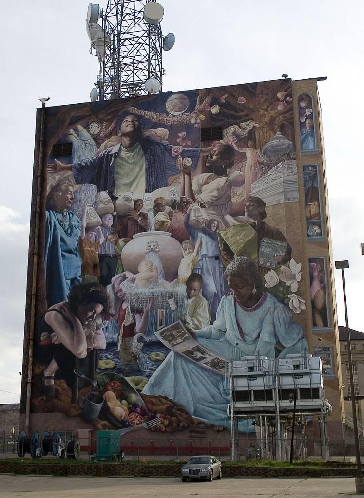 huge mural in downtown shreveport