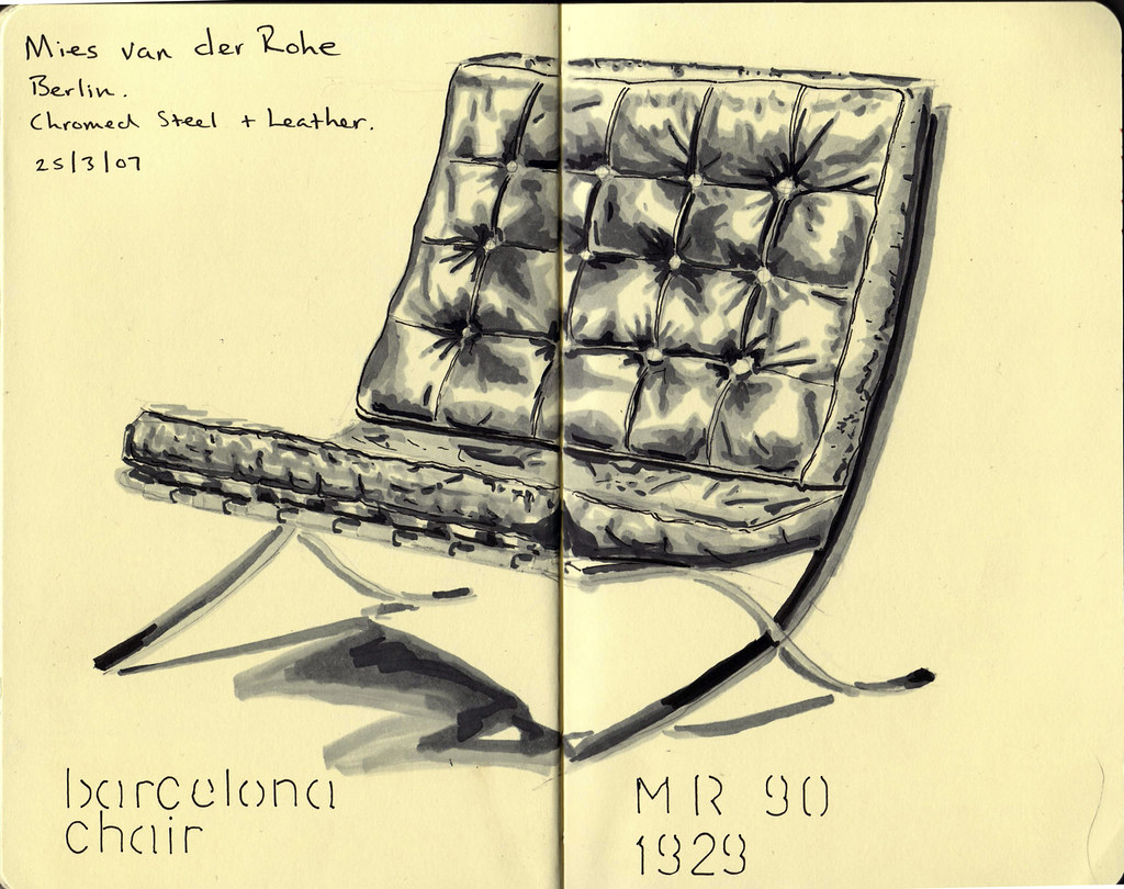 barcelona chair mies van der rohe mr 90 1929 more here andy marshall flickr. Black Bedroom Furniture Sets. Home Design Ideas