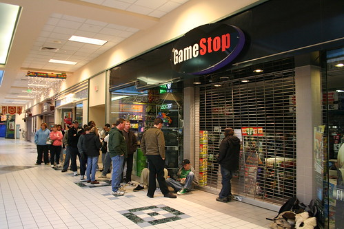 line at gamestop
