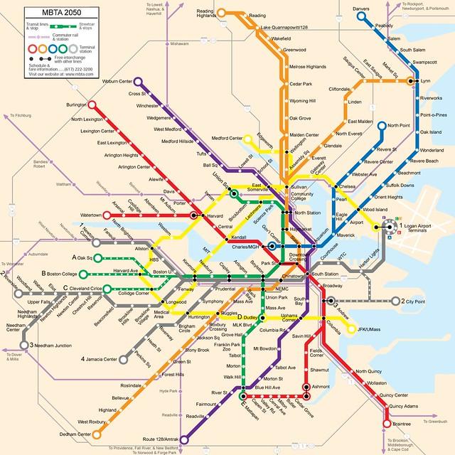 Old Maps of Boston Transit | Flickr