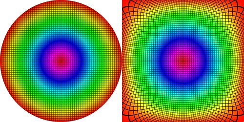 Conformal Transformation: from Circle to Square | by Seb Przd