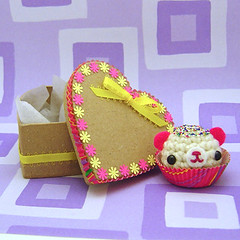 Amigurumi colorful sparkle bon bon candy bear with heart box | by Amigurumi Kingdom