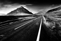 road and mountain bw | by mike138