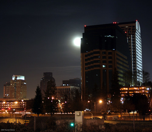 Moon over Sacramento | by Patrick Dirden