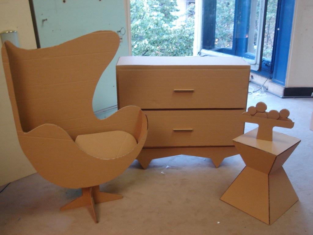 Algunos de mis muebles en carton daniel mancini flickr - Muebles de carton ...