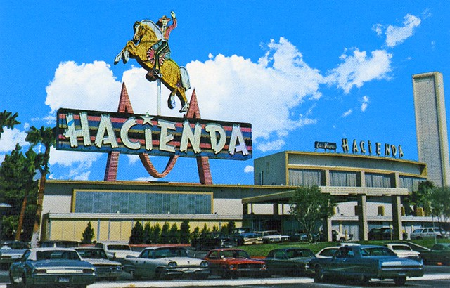 Hacienda Hotel Casino 1967 Las Vegas Nv Postcard