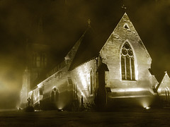 Foggy Church at Night | by felon_bottletop