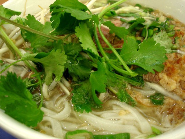 Beef Pho There Was Raw Beef Which Cooked In The Hot