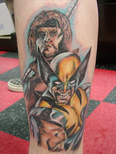 new gambit and wolverine tattoo my new tattoo of gambit an flickr. Black Bedroom Furniture Sets. Home Design Ideas