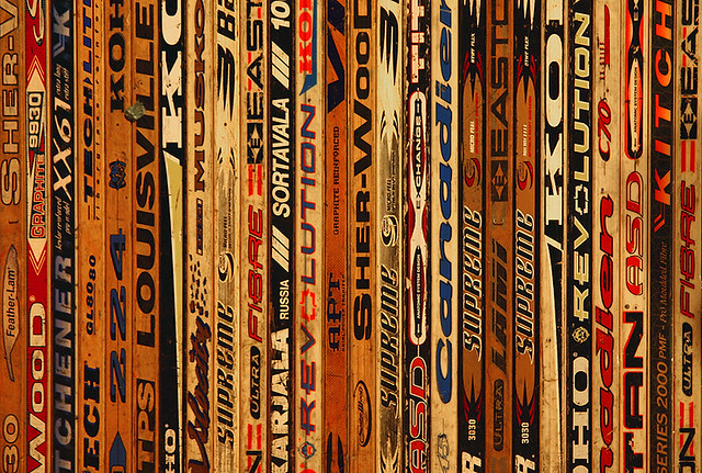 Image result for old school hockey sticks