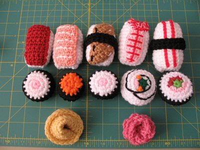 Amigurumi Sushi Free Pattern : Amigurumi Sushi pattern for sushi from needlenooodles, I ...