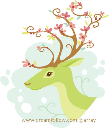 spring antlers | by merwing✿little dear