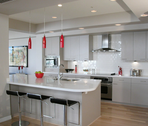 Red Kitchen Island Granite Top