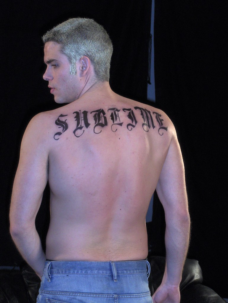 Mark Salling as lead singer of Sublime | airbrushed tattoo ...