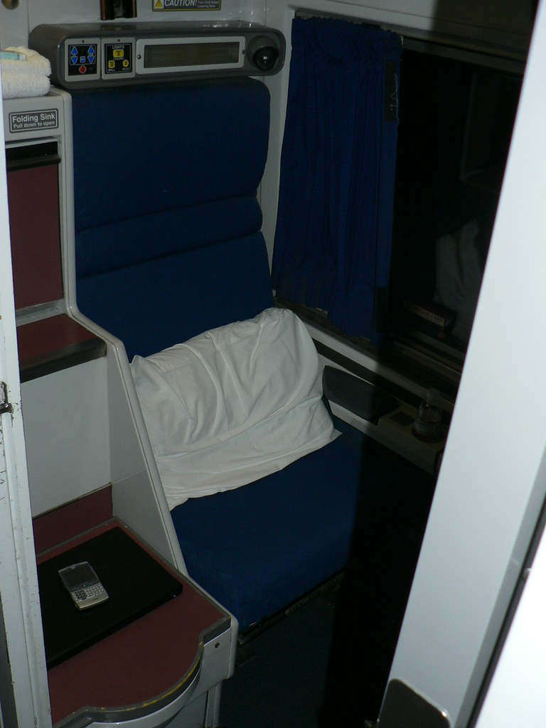 The other half of my roomette to chicago the chairs fold d flickr for Amtrak superliner bedroom review
