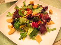 mixed_greens_salad with cashew_cheese_croutons | by tofu666