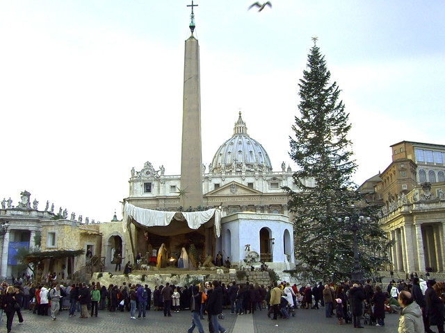 popes nativity scene st peters square vatican city