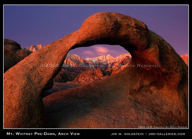 Mt. Whitney Pre-Dawn, Mobius Arch View