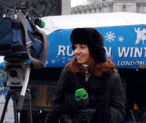 Russia Today television reporter | by James Cridland