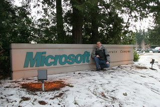 Me at a Microsoft sign | by Erwyn van der Meer
