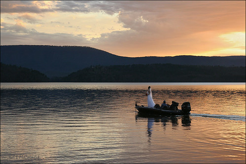 The bride and the bass boat a bride motors across the for Lake dardanelle fishing report