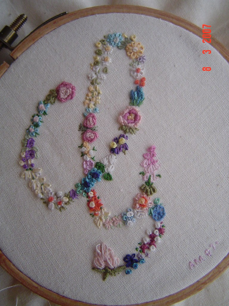 Flower embroidery step into my garden can you guess
