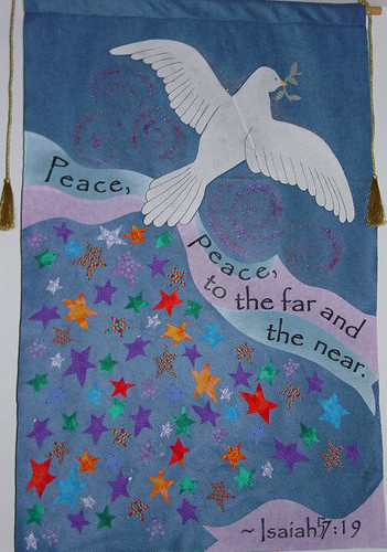 Peace advent banner in 2004 our sunday school kids for Peace crafts for sunday school