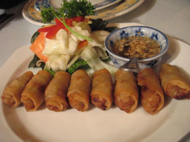 Lawt - Crispy Cambodian's style spring rolls. Ground pork, bean ...